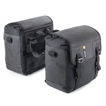 Kriega DUO-28 Motorcycle Saddlebags 28L - black