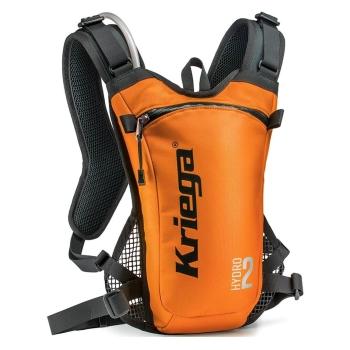 Kriega HYDRO 2 Motorrad Rucksack mit Trinksystem 2L orange
