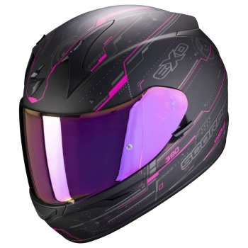 Scorpion EXO-390 AIR BEAT Touring Integralhelm aus Polycarbonat - matt schwarz pink