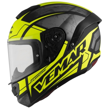 Vemar HURRICANE CLAW Full-Face Helmet from Tricomposite - flat silver fluo