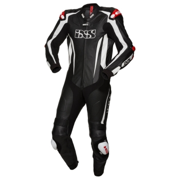 iXS RS-1000 KANGAROO men onepiece sport Leather Suit - black white