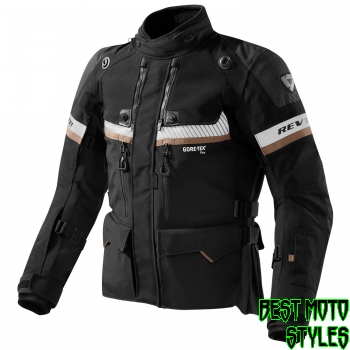 REV'IT! DOMINATOR GTX men motorcycle textil jacket - black black