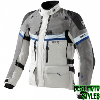 REV'IT! DOMINATOR GTX men motorcycle textil jacket - light grey black