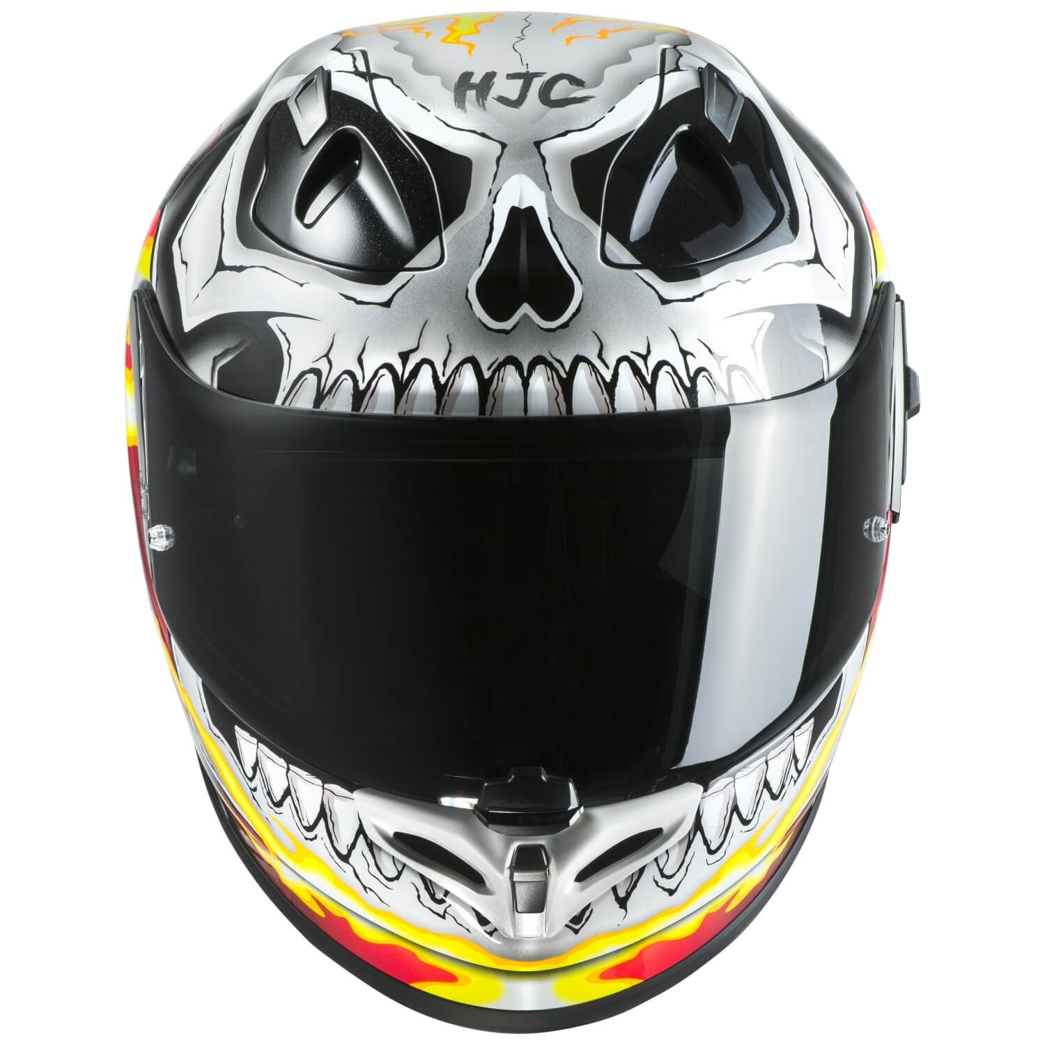 hjc fg st ghost rider motorrad integralhelm touring wei gelb rot. Black Bedroom Furniture Sets. Home Design Ideas