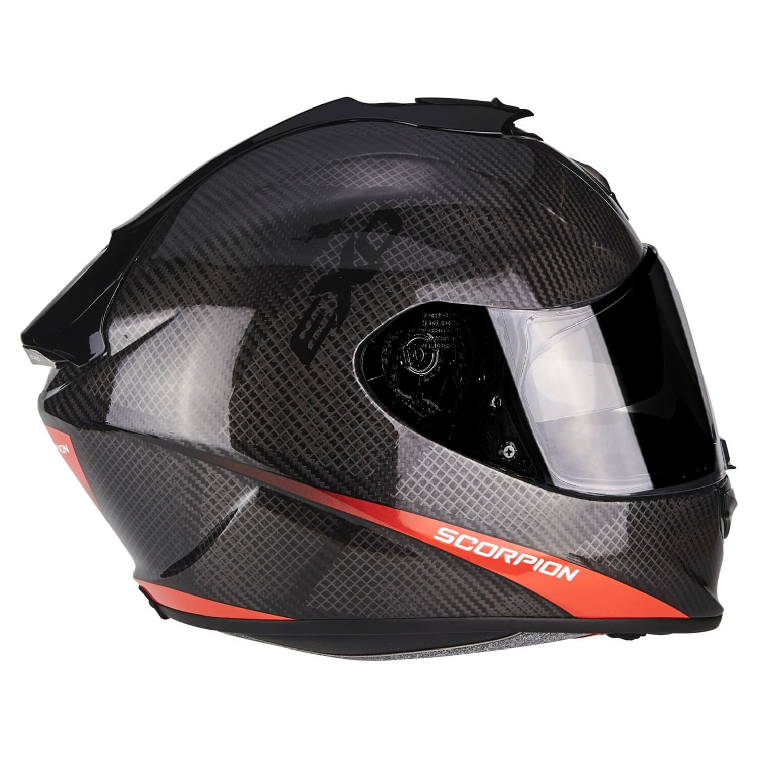 scorpion exo 1400 air carbon pure motorrad integralhelm touring schwarz neon rot. Black Bedroom Furniture Sets. Home Design Ideas