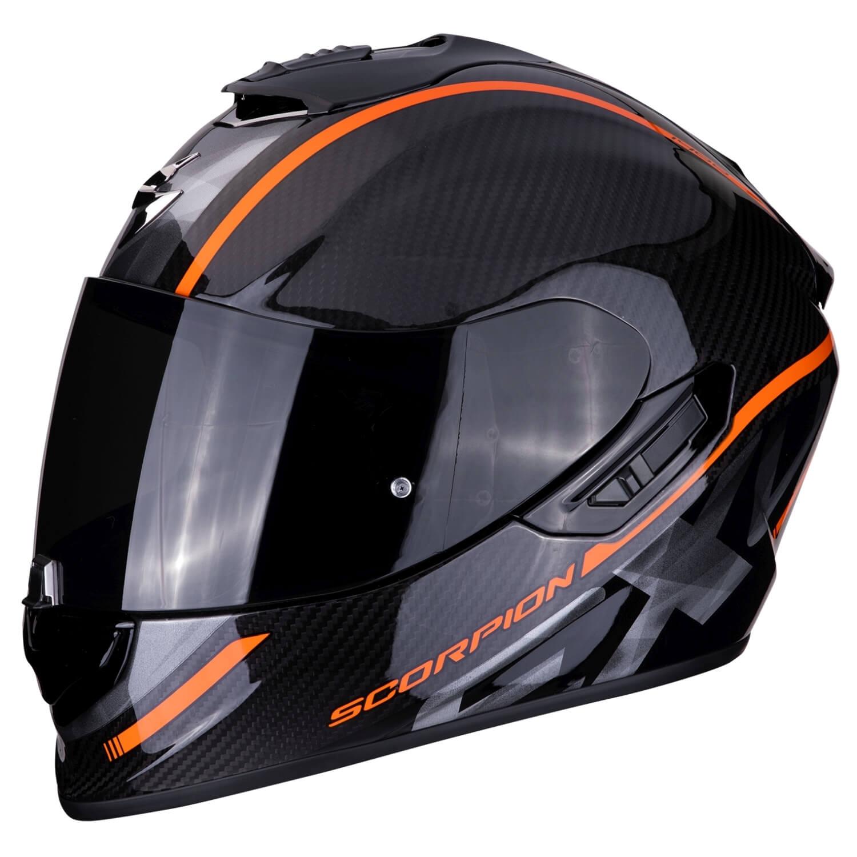 scorpion exo 1400 air carbon grand motorcycle full face helmet touring black orange. Black Bedroom Furniture Sets. Home Design Ideas