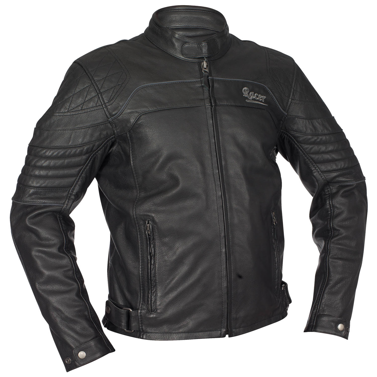 racer indy herren vintage motorradjacke leder schwarz. Black Bedroom Furniture Sets. Home Design Ideas