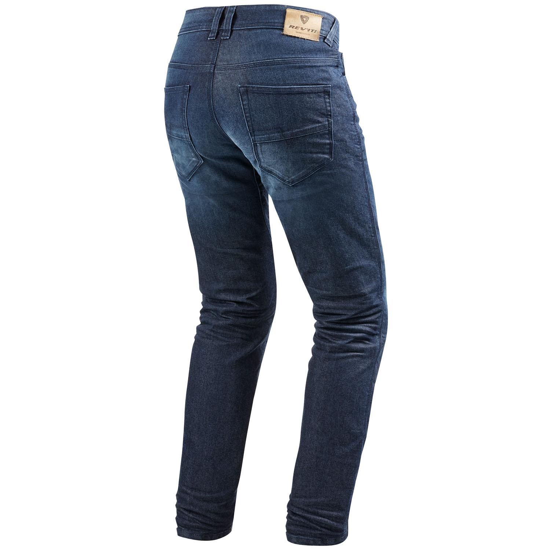 rev 39 it vendome 2 rf herren motorrad jeans std kurz lang used dunkel blau. Black Bedroom Furniture Sets. Home Design Ideas
